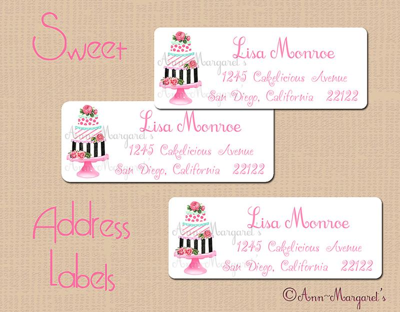 Sweet Address Labels ~ Dress up that Snail Mail! » Ann-Margaret's